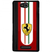 Ayaashii SF Ferraari Back Case Cover for Sony Xperia C