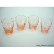 Bicchieri antichi in vetro molato lotto di vecchi bicchieri a176
