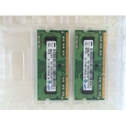 MEMOIRE PC PORTABLE SAMSUNG DDR3. 2 X 2GB 1Rx8 PC3 - 10600S - 09-11 - B2 / M471B5773DH0 - CH9 1112