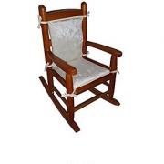 Baby Doll Crocodile Junior Rocking Chair Pad - White