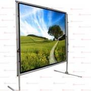 90 X 120(2.29 Mts. X 3.05 Mts.)150 Diagonal FastFold Para Presentaciones Audiovisuales, Teatro en Casa Proyección Frontal - Formato Ancho