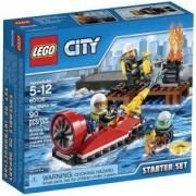 Конструктор Лего Сити - Начален комплект за пожарна - LEGO City, 60106
