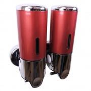 Zeepdispenser Rood met 2 reservoirs van elk 400 ml