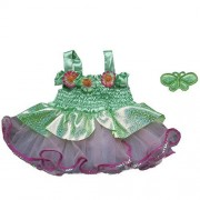Fairy Dress Outfit Teddy Bear Clothes Fit 14 - 18 Build-a-bear, Vermont Teddy Bears, and Make Your Own Stuffed Animals by Stuffems Toy Shop