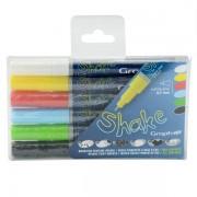 Set linere cu vopsea Shake 6 x 0,7 mm - Basic