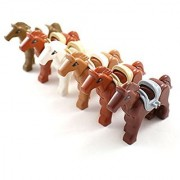 Set of 6 Custom Horses for Minifigures - Lego Compatible Animal Accessories
