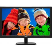 "Monitor TN LED Philips 21.5"" 223V5LHSB, Full HD (1920 x 1080), VGA, HDMI, 5ms (Negru) + Lantisor placat cu aur cu pandantiv in forma de lup de mare"