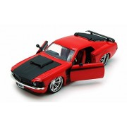 1970 Ford Mustang Boss 429, Red - Jada Toys 90211 - 1/24 scale Diecast Model Toy Car