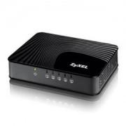 Суич ZyXEL GS-105Sv2 5-port 10/100/1000Mbps Gigabit Ethernet switch, 3 QoS ports (1port 'High', 2ports 'Middle'), - GS-105SV2-EU01