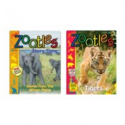 Zoobooks Three Zootles Magazines with One Zootles StoryTime Book