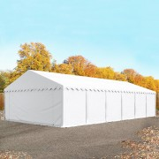 Profizelt24 Lagerzelt 6x12m PVC weiß Unterstand, Lager