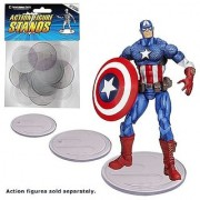 Action Figure Stand Pack of 25 Clear Stands