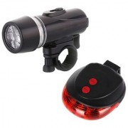 FurMito Combo of Black and Red Powerbeam Headlight with Laser Taillight Kit