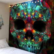 rosegal Home Decor Halloween Skull Wall Hanging Tapestry