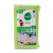 CHLORINE FREE DIAPERS (Stage 1) 40 Diapers