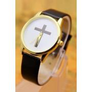 Zaful PU Leather Cross Pattern Watch