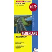 Wegenkaart - landkaart - Atlas Nederland Professional Falk-vouwwijze   Falk
