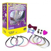 Creativity for Kids Sparkling Hair Accessory Set - Make Fashionable Hair Accessories - Teaches Beneficial Skills - For A