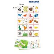 Miniland 36052 - Gioco di associazione: Cosa mangiano?