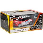 Racetin Mini Cooper S - RC Auto - 1:28 - Rood
