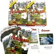 Arkansas, the Natural State, Souvenir Playing Cards, Vacation Gift. Card Faces Feature Multiple Land