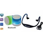 ZEMINI Music Mini Bluetooth Speaker(S10 Speaker) And Bluetooth Headset (BS19C Headset) for ASUS ZENFONE ZOOM