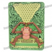 Happy Monkey Style Multiplication Learning Board - Brown + Yellow