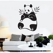 Oso de panda Bamboo Funny Animal pared vinilo adhesivo infantil para la habitación del bebé decoración