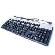 HP KU-0316 USB WIRED KEYBOARD 104 KEYS BLACK AND SILVER HP PART# 434821-002