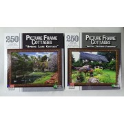 Set 3 Spring Lake Cottage & Century Thatched Farmhouse Picture Frame Cottages 250 Piece