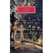 Journey to the Center of the Earth/Twenty Thousand Leagues Under the Sea/Round the World in Eighty Days by Jules Verne