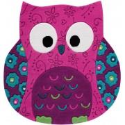 Smart Kids Teppich Little Owl pink SM-3659-04 100x100