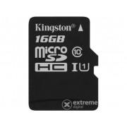 Card memorie Kingston Secure Digital Micro 16GB SDHC Class10 cu adaptor Single Pack w/o