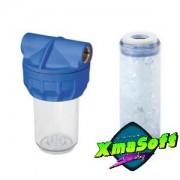 Filtru apa transparent cartus polifosfati 10 1/2 3/4