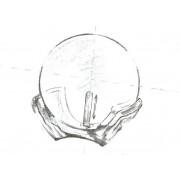Colier Aur Tin Cup Negru