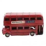 Generic Kids Metal Double-deck London Bus Model Die-cast Vehicles Handmade Craft