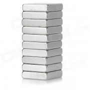 N52 20 x 20 x 5mm Square Magnet for Bait Tray - Silver (10pcs)