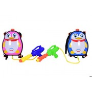 Planet of Toys Water Splash Pichkari with 3 Litre Water Tank Backpack - Penguin (Set of 2)