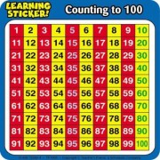 Counting to 100 Learning Stickers by Scholastic
