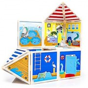Build & Imagine: Marine Rescue Center (magnetic building set with adventurous wooden character)