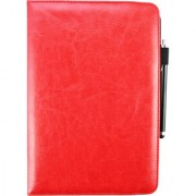 Emartbuy Toshiba Encore 2 10.1 Inch Tablet PC Universal ( 9 - 10 Inch ) Red 360 Degree Rotating Stand Folio Wallet Case Cover + Stylus