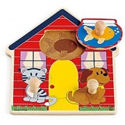 Hape Perfect Pets Toddler Wooden Knob Puzzle