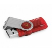 Memoria USB Kingston DataTraveler 101 G2, 8GB, USB 2.0, Rojo