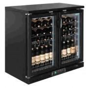 Vinoteca doble puerta pivotante para cavas y vinos Polar GH131