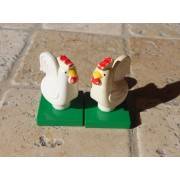 Légo Duplo - Lot 2 Poules Sur Socle -