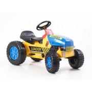 G21 Classic lábbal hajtós traktor sárga / kék