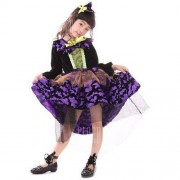 GearBest Kids Midi Halloween Witch Cosplay Dress