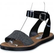 Clarks Romantic Moon Black Combi Leather, Skor, Sandaler & Tofflor, Remsandaler, Svart, Dam, 36