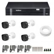 Kit DVR HDCVI com 4 Câmeras Vhd 1010b + DVR Tríbrido Intelbras