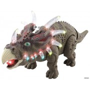 Memtes® Walking Triceratops Dinosaur Toy Realistic Sounds and Fun Lights, Walks and Roars!